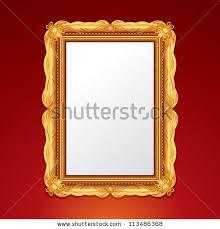 antique picture frames vector. Gold Vintage Picture Frame. Vector Illustration Antique Frames