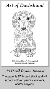 Dachshund Coloring Pages Art Adult Images Free Printable Coloring