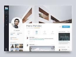 profile page inspiration muzli design inspiration
