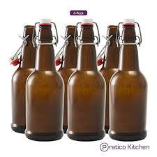 Secure Swing 16 oz Beer Bottles with Ceram-Seal <b>Ceramic</b> Cap