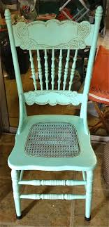 this is one of the antique press back chairs i painted to use in the dining