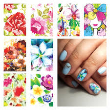 Aliexpress.com : Buy FWC Nail Sticker Water Adhesive Foil Nail Art ...