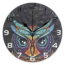 oreayn owl with tribal ornament wall