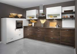 L Shaped Kitchen Cabinet L Shaped Kitchen Designs By Brown White Wooden Kitchen Cabinet On