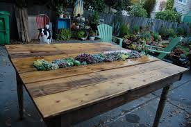 pallet outdoor furniture plans. homemade succulent pallet table outdoor furniture plans