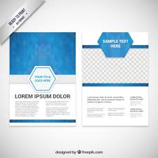 Templates For Brochure Brochure Template With Blue Polygons Vector Free Download