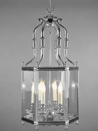 amadis 6 light chrome hexagonal lantern ceiling light