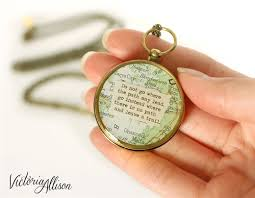 Compass Quotes New Working Compass Necklace With Vintage Map And Emerson Or