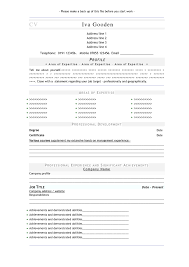 Free Resume Templates Examples In Word Format Best Template With