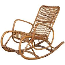 vintage italian bamboo rocking chair with square arms for at 3455