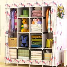 Fashionable Art Home Furnishing Non Woven Bedroom Furniture Portable  Cabinet Assembly Multifunctional Foldable Wardrobe Closets