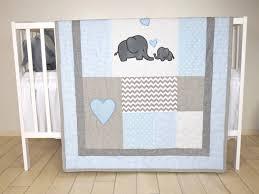 elephant baby girl bedding blue