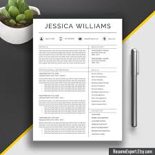 Professional Resume Template Cv Template Cover Letter Word Us