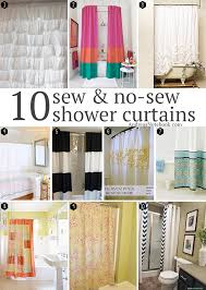10 diy shower curtains sew and no andrea s notebook pertaining to how make a curtain decorations 1