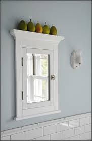 wood recessed medicine cabinet with mirror