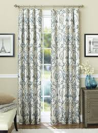 stylish ikat scroll curtain panels are designed to block out light and reduce unwanted noise for