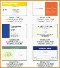 Word Business Card Template New Templates Microsoft Word From Free