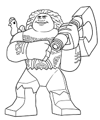 Small Picture LEGO Disney Moana Coloring Pages GetColoringPagescom