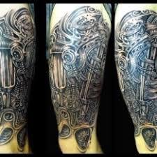 Tetování Biomechanika Noha černobílá 3d Tetování Tattoo