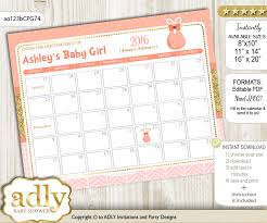 Diy Baby Girl Baby Due Date Calendar Guess Baby Arrival Date Game