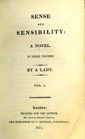 sense and sensibility title page of first edition