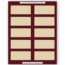 great papers templates buffalo plaid label 50