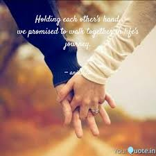 Holding Each Others Hand Quotes Writings By Anindita Das