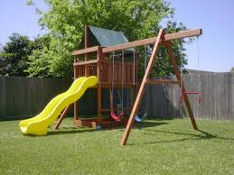 add on a swingset to your existing wood fort