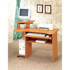 wood small computer desk for home office compact corner computer desk with storage small computer desk