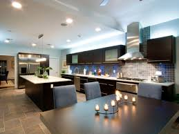 nice one wall kitchen designs with an island