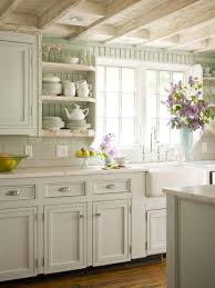 Antique White Kitchen Shabby Chic Antique White Kitchen Cabinets With Glaze And Wooden