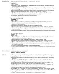 Magnificent Software Quality Assurance Engineer Resume Sample Photos