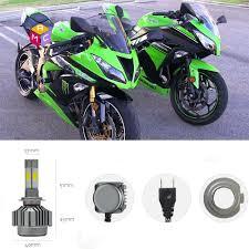 Ninja 650 Led Light Kit Details About Pair H7 Led Headlight Bulb Kit Fit Kawasaki Zx10r 650r 636 Zx6r 250r 300 Ninja