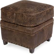 retro old leather ottoman 30111 rustic footstools and ottomans by hedgeapple