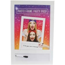 wooden photo frame party prop