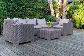 rattan outdoor table and chair made in
