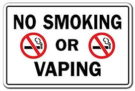 No Smoking Signage Amazon Com Signmission No Smoking Or Vaping Business Sign Indoor