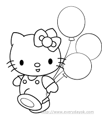 Is it someone's special day? Hello Kitty Happy Birthday Coloring Pages Coloring Home