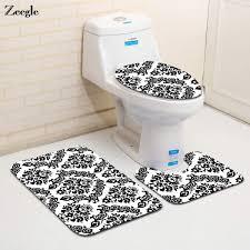 senarai harga zeegle 3pcs bathroom mat set european style bath mat anti slip bathroom rug soft foam toilet mat absorbent bath rug sets terkini di malaysia