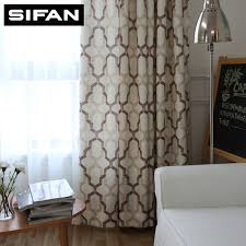 Geometric Pattern Curtains Awesome Japan Style Geometric Pattern Printed Linen Curtains For Bedroom