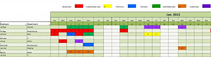 Staff Leave Planning Scheduling Management Excel Template