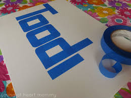Kid's Craft: Painter's Tape + Crayola Paint ...