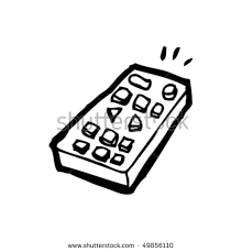 remote control drawing. quirky drawing of a remote control p
