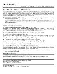 Project Management Sample Resumes Sample Resume For Project Manager