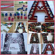 Quilling Paper Morocco Alphabet A Using Recycled Paper