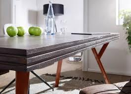 Finebuy Esstisch Massiv Davis Esszimmertisch Grau Holz Metall