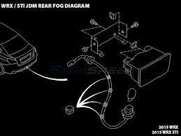subaru jdm rear fog light kit wrx sti  explosion diagram