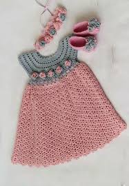 Baby Dress Patterns Beauteous See That Beautiful Dress For Girls Pink Crochet Yarn Crochet