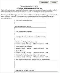 Customer Service Form Template Customer Feedback Form Template Doc