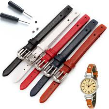 watchband calf leather watchband watch strap band metal buckle for fossil watch es4119 es4176 es3262 es4000 woman 8mm colorful